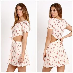 For Love and Lemons cherry print cutout dress